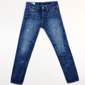 Ralph Lauren Polo Alton Distressed Skinny Jeans 25